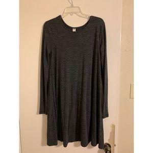 Casual dark gray dress